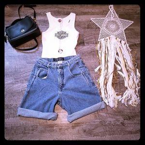 🦋Guess Green Tag Blue Jean Shorts